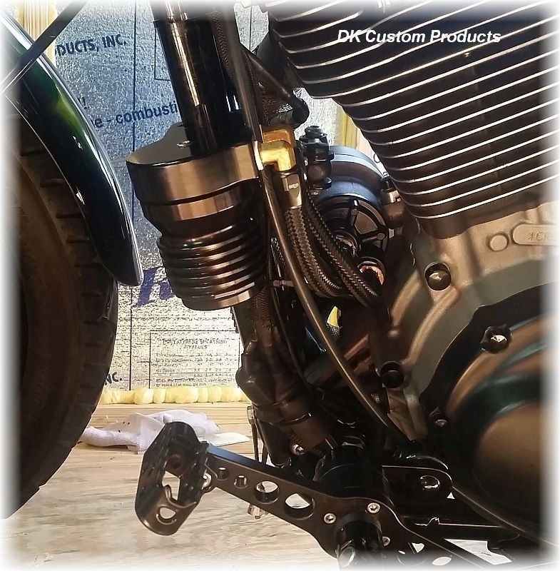 Cool-n-Clean Oil Filter Relocation Kit for Sportster Models