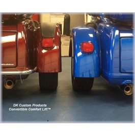 DK Custom HD Trikes - Convertible Comfort Lift™ - Improved Comfort & Lift