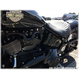 Harley-Davidson 2007-Up Softail Coil Relocation Kit Plug-N-Play DK Custom Harley-Davidson EFI BETTER LOOK ~ BETTER AIR-FLOW Black POWDER COAT Finish