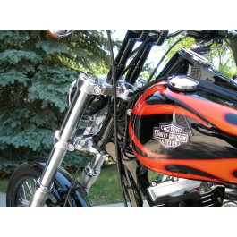 "PREMIUM 2"" TANK LIFT KIT FITS HARLEY-DAVIDSON ALL DYNA MODELS 1999-Up Super Glide, Super Glide Custom, Street Bob, Low Rider, Wide Glide, Fat Bob  DK Custom Products"