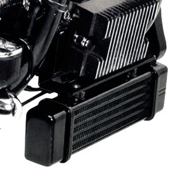 LowMount Oil Cooler System for Harley Softail Models Harley-Davidson Motorcycles DK Custom High Flow Performance Softail Touring Trike Freewheeler Big Twin Evo Milwaukee Eight Sportster  Cooler Running Motor Jagg HD Black