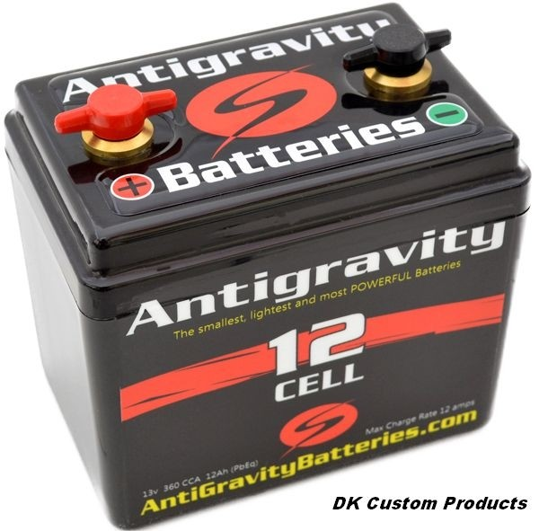 Compact Lithium Motorcycle Battery 3 Year Warranty DK Custom Products Antigravity No Maintenance ~ No Trickle Charging ~ Extra Long Life Harley-Davidson