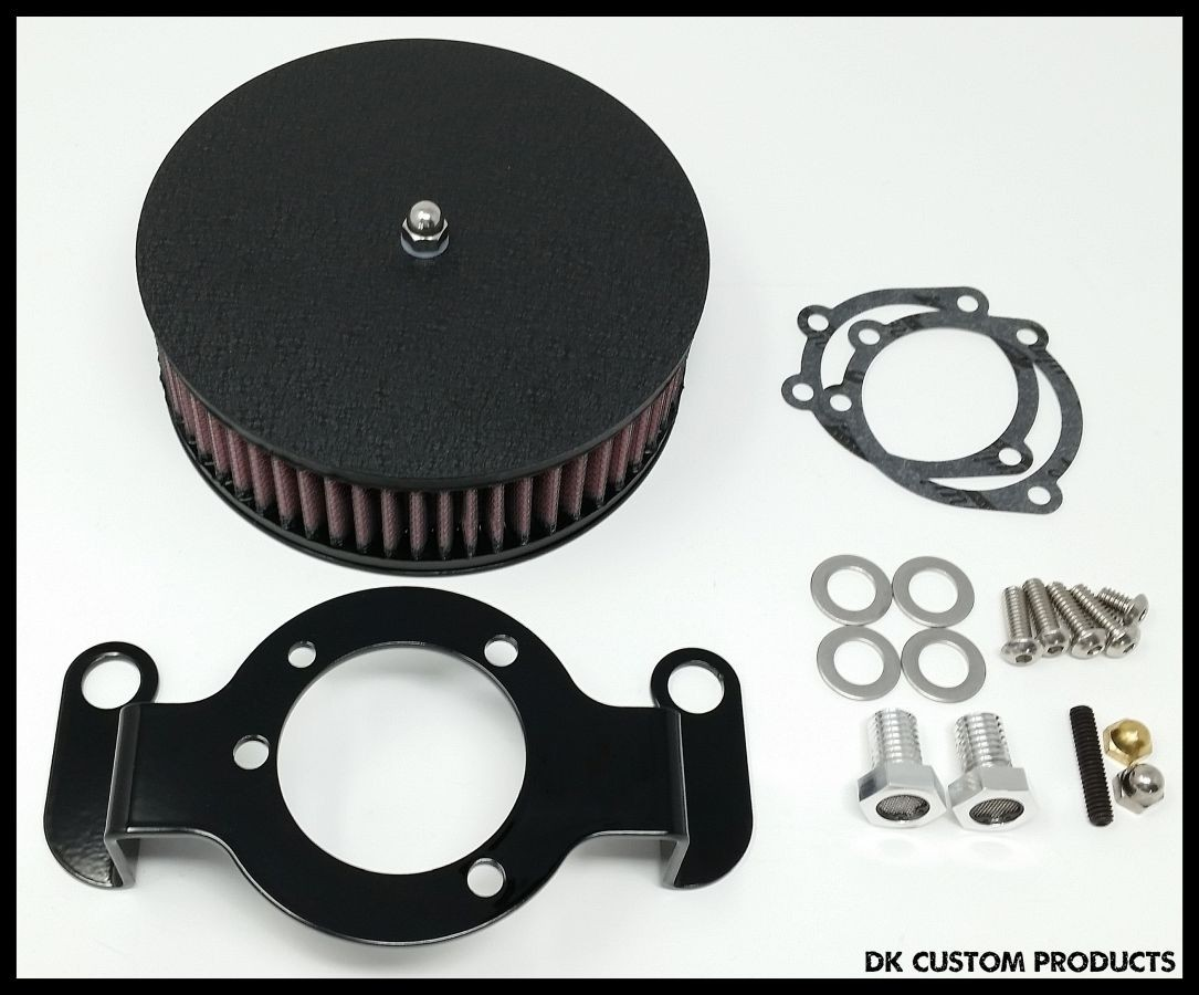 Complete HiFlow 587 Air Cleaner Wrinkle Black for Sportsters Harley Sportster Harley Davidson High Flow Air cleaner DK Custom Nightster Iron 48 Custom Low SuperLow Bobber Stage I K&N EFI Carbureted Complete High Performance
