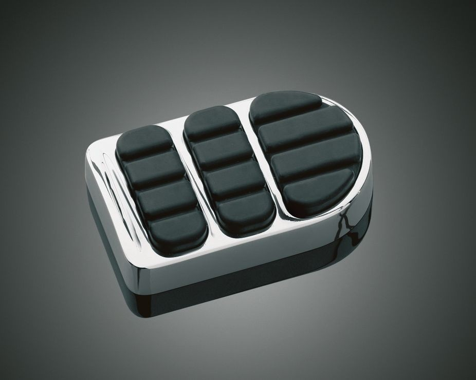 DK Custom Chrome ISO Brake Pedal Pad For Harley Dyna Softail Kuryakyn larger pedal for better braking control