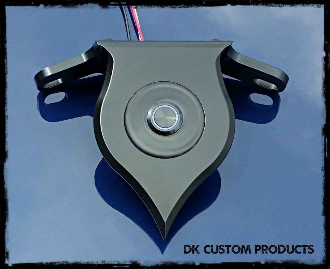 DK Custom Harley Sportster Billet DLX Coil Relocation Push-Button LED Ignition Switch