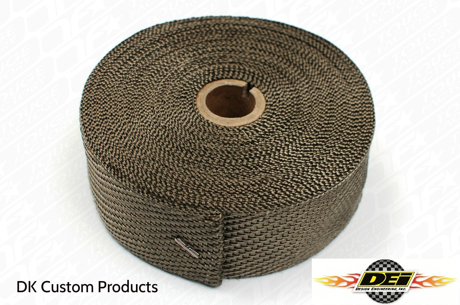DK Custom Titanium Exhaust Wrap DEI Reduced Heat Improved Performance Sportster - Evo - Twin Cam Harley Old School