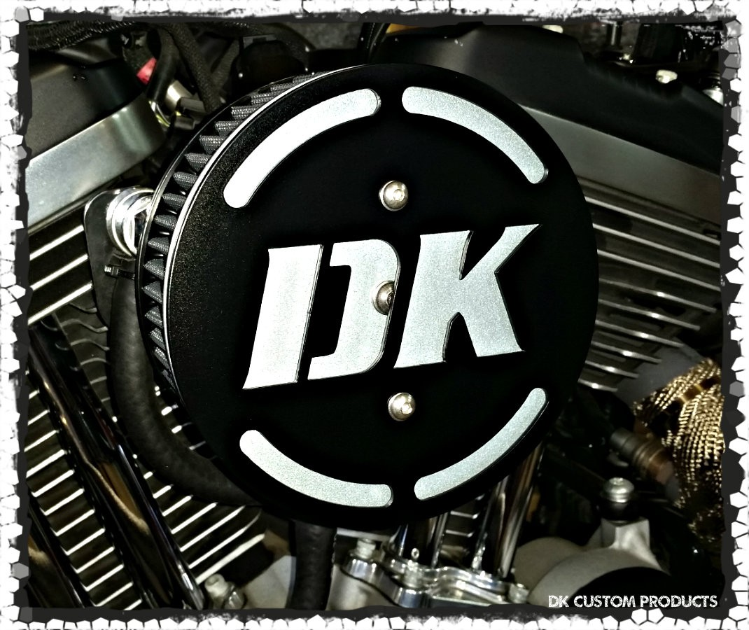 DK in 3-D Flake Complete HiFlow 587 Air Cleaner Sportster Sportster Harley Davidson High Flow Air cleaner DK Custom Nightster Iron 48 Custom Low SuperLow Stage I K&N EFI Carbureted Complete High Performance