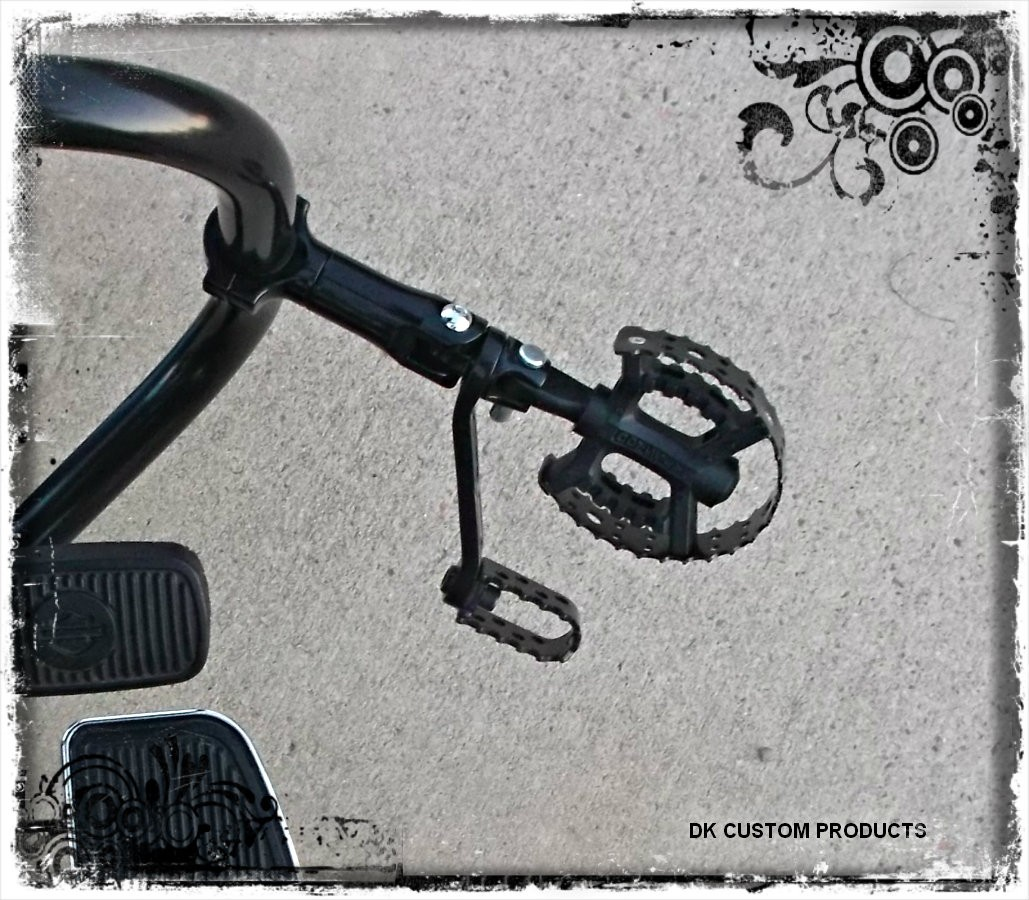 DK Custom Black  HIGHWAY PEG CLAMPS  Engine Guard - Crash Bar - Frame  Harley-Davidson Sportster Touring Trike Freewheeler Dyna