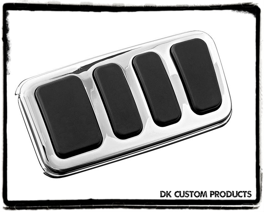 Extended Chrome ISO Brake Pedal Pad For Harley Touring Softail DK Custom Kuryakyn larger pedal for better braking control floorboard extension