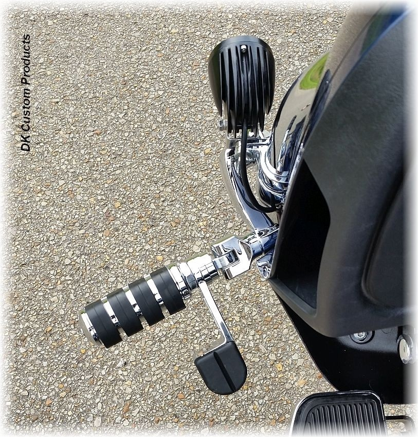 DK CustomChrome Adjustable Highway Peg Mounting Kit w/ Radiused Arms Harely Davidson Foot Pegs
