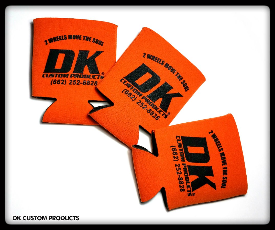 DK Custom Products 2 wheels move the soul Koozie Harley-Davidson Drink