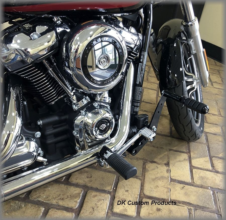 DK Custom Products Harley M8 Softail Sportster Dyna Stealth Adjustable Highway Peg Mounting Kit Chrome Black