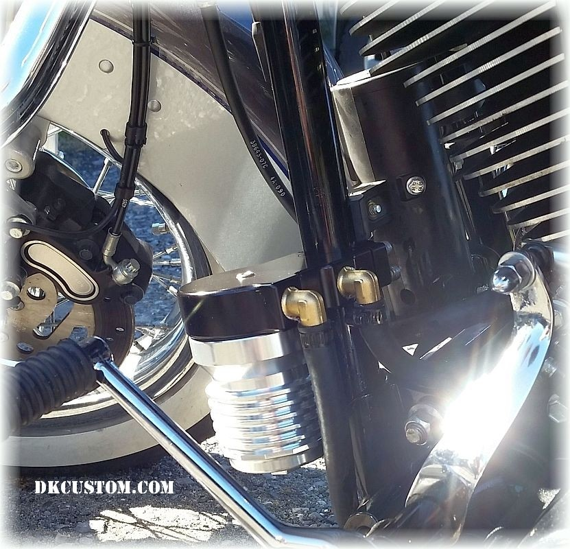 CnC Oil Filter Relocation Kit Harley Davidson DK Custom  Sportster  Dyna Softail  Cooler Running Motor easy oil changes