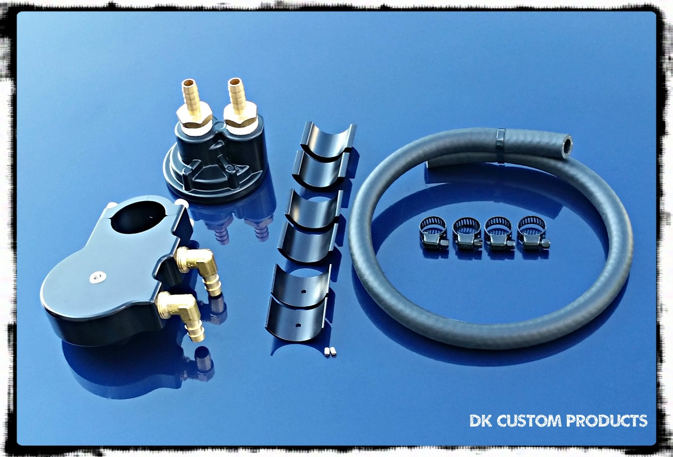 CnC Oil Filter Relocation Kit Harley Davidson DK Custom Cable Operated Carbureted TBW High Flow Performance Sportster  Dyna Softail Touring Trike Freewheeler Big Twin Evo Cooler Running Motor easy oil changes complete Jagg Cool-n-Clean