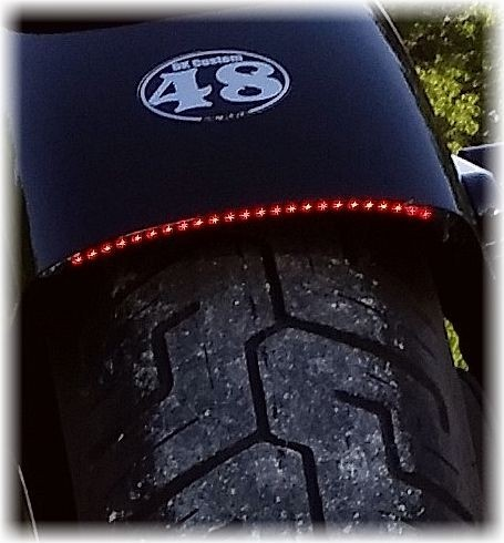 DK Custom Stealth LED Run-Brake-Turn Lights - True Plug-n-Play Harley Sportster 48 72 Custom Dynamics SEE & BE SEEN