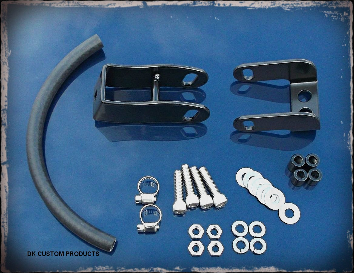 DK Custom Harley Davidson Split Tank Lift Kit for Dyna & Softail Models softail heritage deluxe fat boy springer cross bones night train deuce rocker blackline dark custom