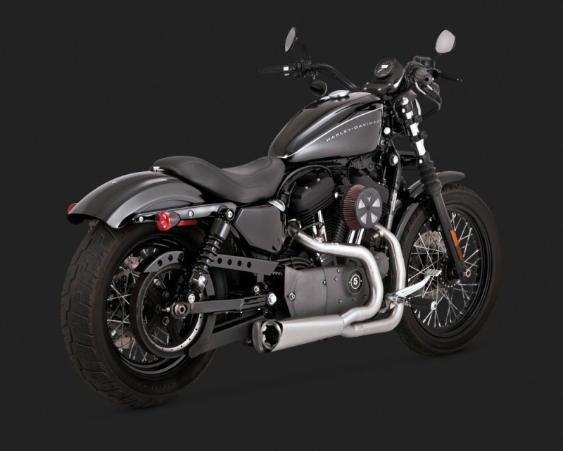 DK Custom V&H Competition Series Exhaust for Harley Sportster - Stainless Harley Sportster