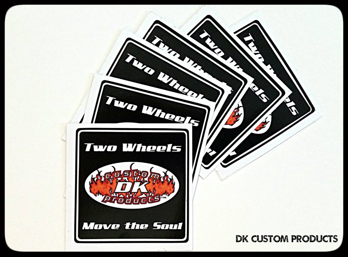 DK Custom Products Two Wheels Move the Soul Stickers Harley