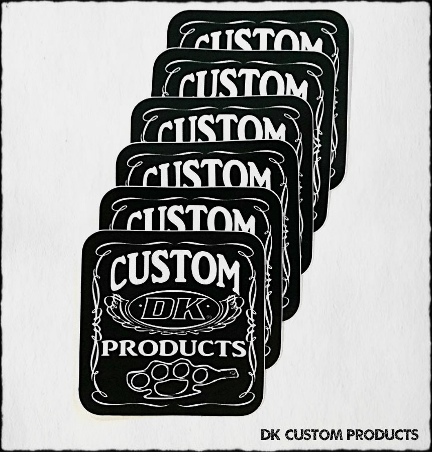 DK Custom Products Vinyl Stickers Knuckle Harley-Davidson