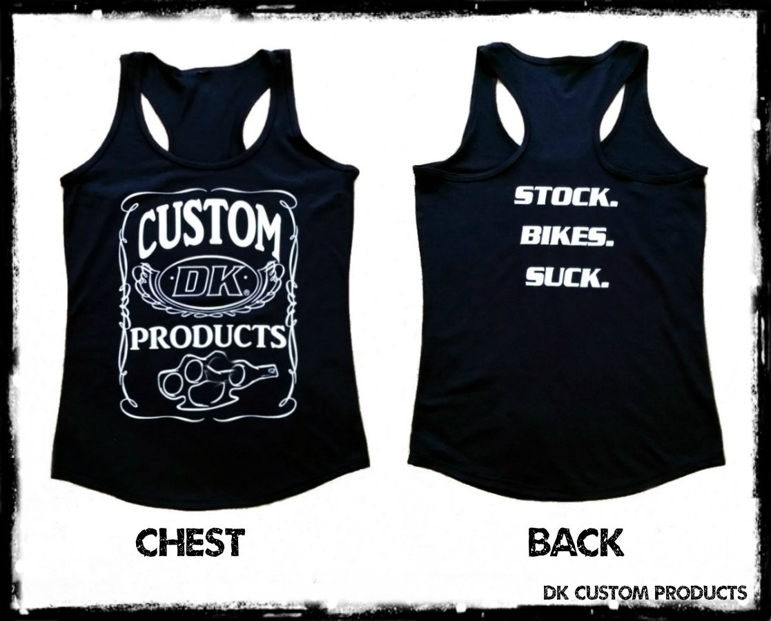 Women's Tank Tri-Blend DK Custom Products Stock. Bikes. Suck.