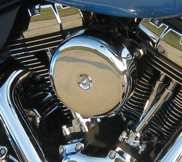 Smooth Chrome Bobber Complete HiFlow 606 Air Cleaner Twin Cam Dyna Softail Touring DK Custom High Flow Harley Davidson performance air cleaner 606 intake kit K&N EBS External Breather System TBW Cable Operated