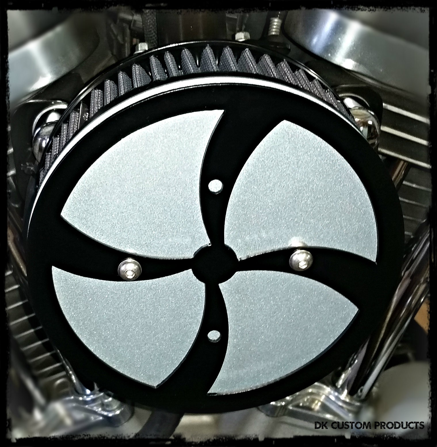 WindStorm 3-D Complete HiFlow 587 Air Cleaner  Harley Twin Cam DK Custom Harley Davidson Outlaw Air Cleaner Systems Complete EBS High Flow M-8 Milwaukee-Eight Softail Twin Cam Dyna  Touring Trike Freewheeler  Big Twin Stage I TBW Throttle By Wire