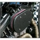 Complete HiFlow 828 Air Cleaner System - Harley Sportster  w/ Wrinkle Black Cover