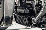Fan Assisted LowMount Oil Cooler System  Harley Touring Models Harley-Davidson Motorcycles DK Custom High Flow Performance Softail Touring Trike Freewheeler Big Twin Evo Milwaukee Eight Sportster  Cooler Running Motor Jagg HD Black