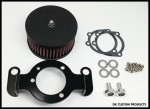 Complete HiFlow 425 Air Cleaner Wrinkle Black for Harley Twin Cam DK Custom Harley Davidson Outlaw Air Cleaner Systems Complete EBS  High Flow M-8 Milwaukee-Eight Softail Twin Cam Sportster Roadster Dyna 72 48 Big Twin Evo Nightster Iron Stage I Ness Big