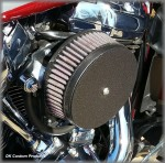 Wrinkle Black Complete HiFlow 606 Air Cleaner Harley Milwaukee-Eight DK Custom Milwaukee-Eight Maximum Power High Flow Harley Davidson performance air cleaner 606 intake kit K&N EBS External Breather System Stage I Outlaw