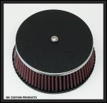 Wrinkle Black Air Cleaner Cover Outlaw High Flow 606 Air Cleaner Harley Davidson DK Custom Stage I