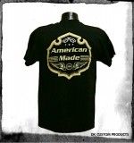 American Made Shield T-Shirt ~ DK Custom Products Dry Blend