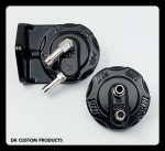 DK Custom Harley-Davidson Oil Filter Relocation Mount & Adapter Components