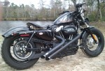 DK Custom Slam Your Ride!  BEEFY Struts Sportster Dyna Nightster Iron 48 Lowering Kit Harley Davidson Rigid