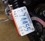 High Tight License Plate Relocation Kit Harley-Davidson Sportster Dyna DK Custom LED Light