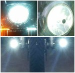 DK Custom Harley Freewheeler LED Headlight Stealth LED Driving Lights Turn Signal running