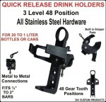 DK Custom Products Harley Drink Cup Holder Quick Release Nylon Chubby Cups