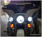 DK Custom LED Headlight Stealth Driving Lights Turn Signals Run Brake Turn Running Lights Fog Passing