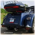 DK Custom Tri-Glide Mud Flaps w/ Run-Brake-Turn LED Lights Built-In Harley-Davidson RBT SEE & BE SEEN!