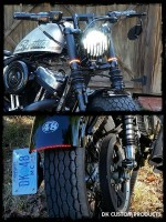 DK Custom Harley Sportster Plug n Play LED Headlight Run Brake Turn Running lights Turn signals
