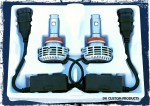 DUAL LED Drop-In Headlight Bulbs Premium White H9 H11 - Harley