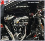 Naked Complete HiFlow 606 Air Cleaner Harley Milwaukee-Eight DK Custom Milwaukee-Eight Maximum Power High Flow Harley Davidson performance air cleaner 606 intake kit K&N EBS External Breather System Stage I