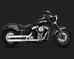 V&H Eliminator 300 Slip-ons for Harley Milwaukee-Eight Softail - Chrome Vance & Hines