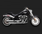 V&H Eliminator 300 Slip-ons for Harley Milwaukee-Eight Softail - Satin Chrome Vance & Hines