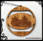 DK Custom Christmas Tree Holiday Harley Tri-Glide Laser Engraved Ornament Plaque