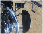 DK Custom Harley Floorboard Extension  Softail Heritage Reduce felt Heat VTwin Goodies