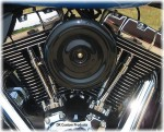 Black Bobber Style Complete HiFlow 587 Air Cleaner Twin Cam DK Custom Harley Davidson Outlaw Air Cleaner Systems Complete EBS High Flow M-8 Milwaukee-Eight Softail Twin Cam Dyna  Touring Trike Freewheeler  Big Twin Stage I TBW Throttle By Wire