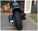 License Plate Relocation Kit Harley-Davidson M8 Softail Sportster Dyna Custom Dynamics Run Brake DK Custom LED Light