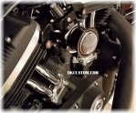 Black Powder Outlaw V-Stack Intake Sportster Complete System Harley Davidson DK Custom EFI Carbureted  External Breather system EBS High Flow Performance Roadster Big Twin Evo Custom 48 72 Iron