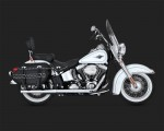DK Custom V&H True Dual Exhaust System for Harley Softail - Chrome TD Vance & Hines Thunder Torque
